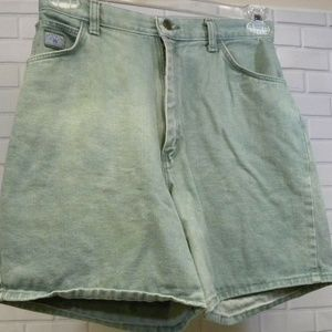 Wrangler for Women Green Denim Sz 10 Jean Shorts